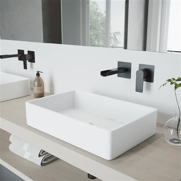 vigo atticus wall mount bathroom faucet 1 handle matte black