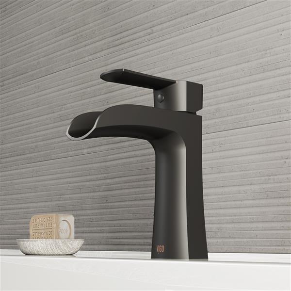 vigo paloma single hole bathroom faucet 1 handle matte black