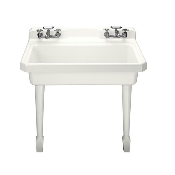 kohler harborview utility sink 48 in x 15 06 in cast iron white