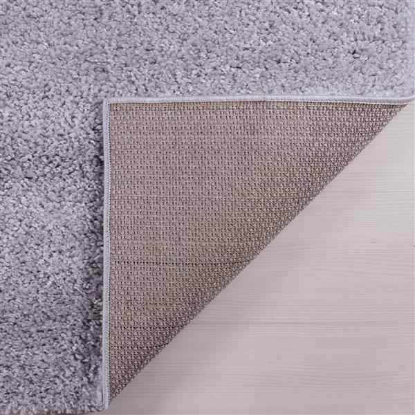 petit tapis a poil long meknes 3 x 5 gris clair