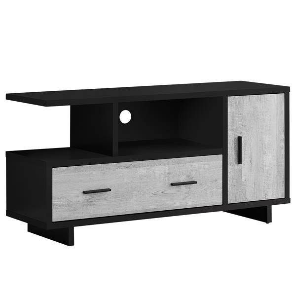 meuble television avec rangement 47 25 x 23 75 noir gris