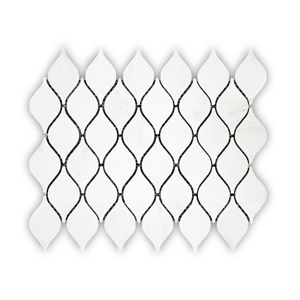 jl tile marble tile white waterdrop pattern 5 box 10 8 in x 13 6 in