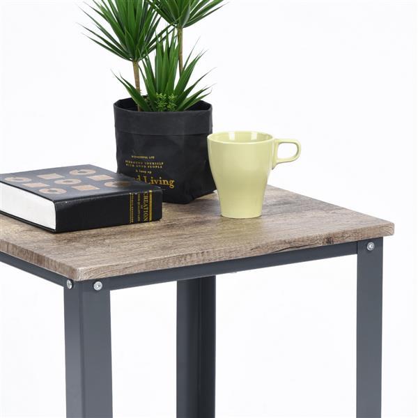 table d appoint carree furniturer metal noir et bois 18