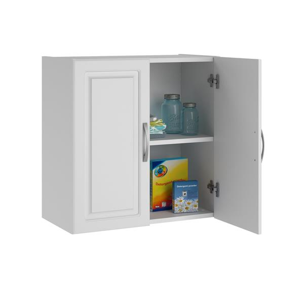 armoire de rangement murale kendall blanc 24