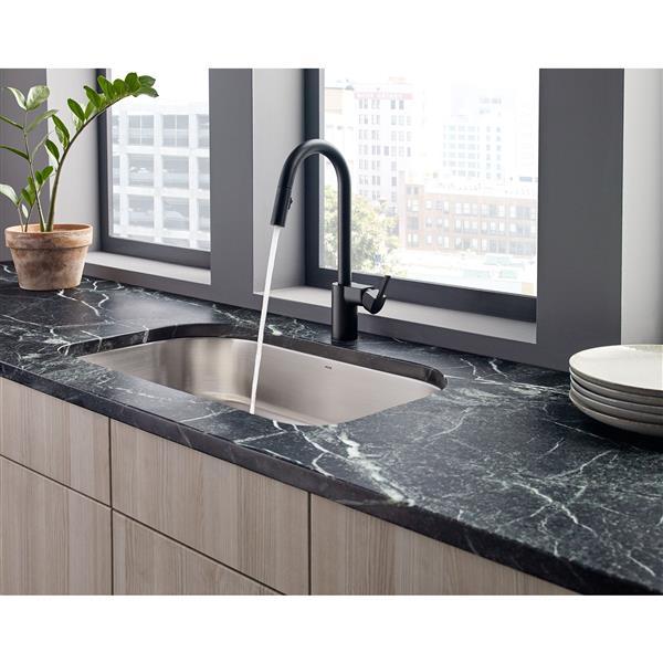 moen align kitchen faucet one handle pulldown matte black