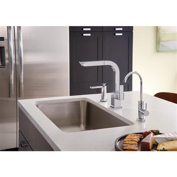 moen 90 degree kitchen faucet one handle pullout chrome