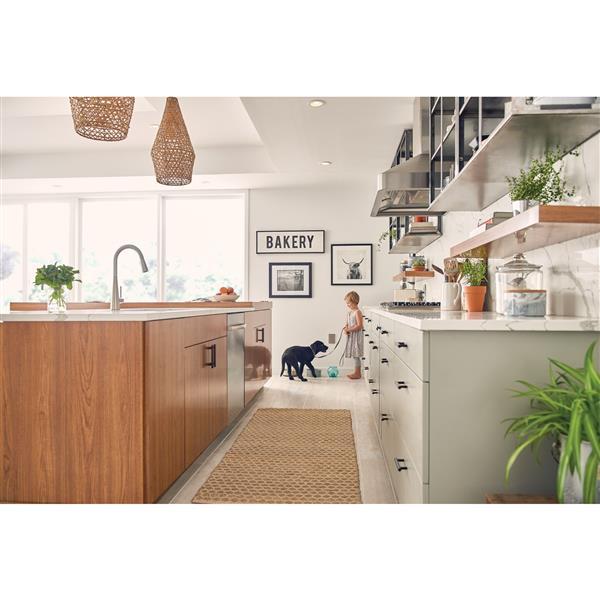 moen sleek collection pulldown kitchen faucet stainless steel