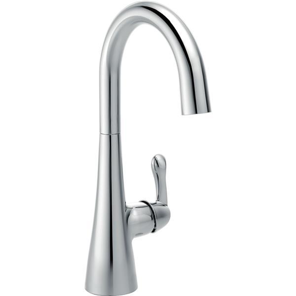 delta single handle bar prep faucet chrome