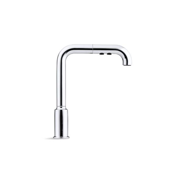 kohler purist pull out kitchen sink faucet 1 handle stainless steel
