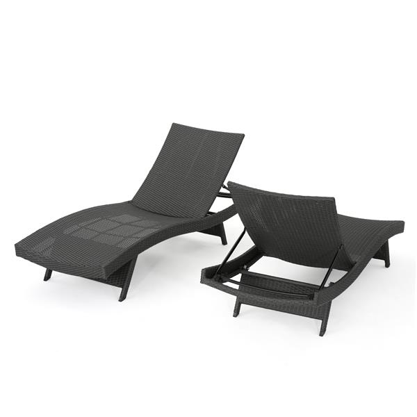 best selling home decor loma outdoor chaise lounge chair brown wicker set of 2