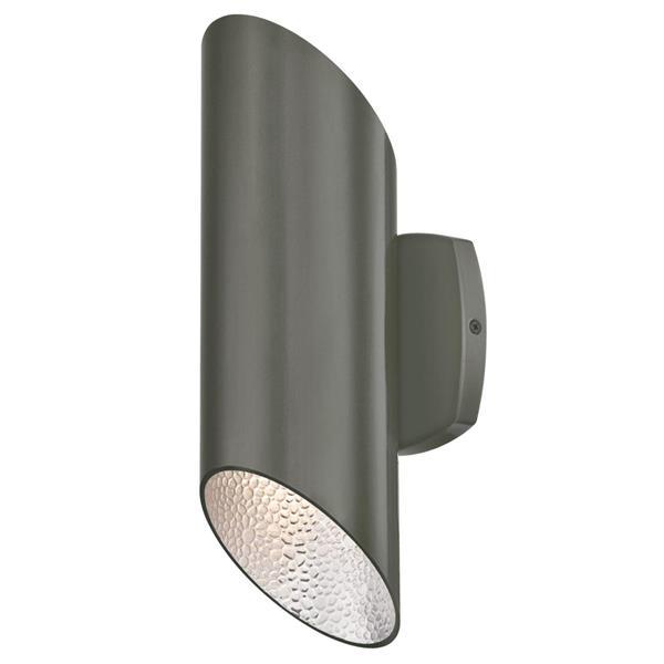 westinghouse lighting canada skyline outdoor wall light led polished graphite