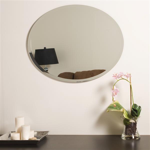 miroir ovale sans cadre biseaute odelia de decor wonderland