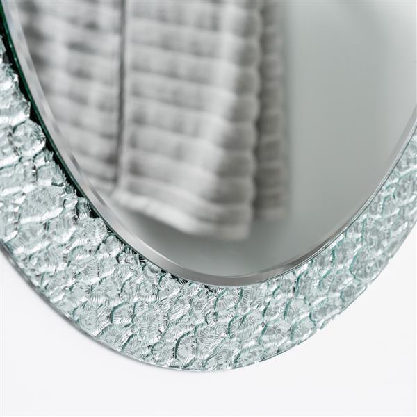 miroir sans cadre ovale jewel de decor wonderland