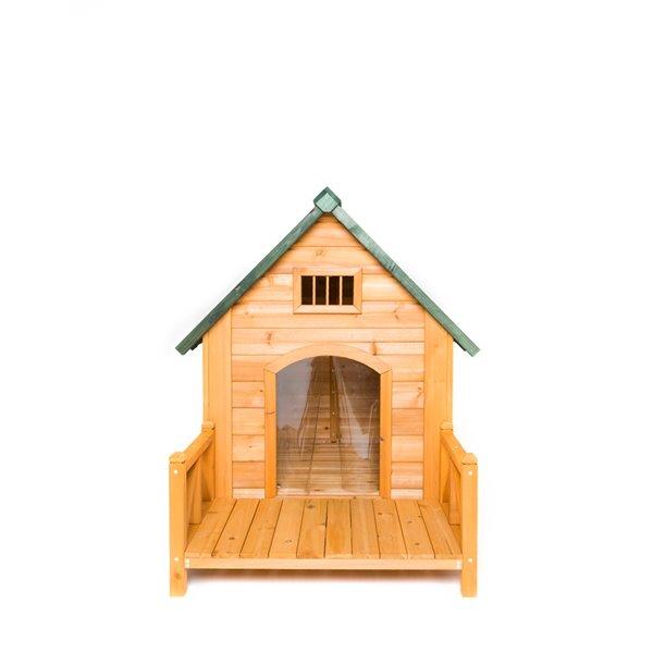 niche pour chien k 9 kastle avec porche et volets de porte moyenne