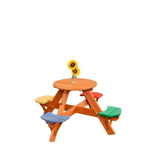 table de pique nique en bois pour enfants de creative cedar designs