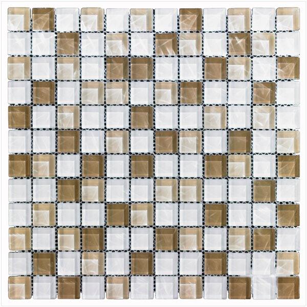 mono serra glass mosaic tiles 12 x 12 white brown