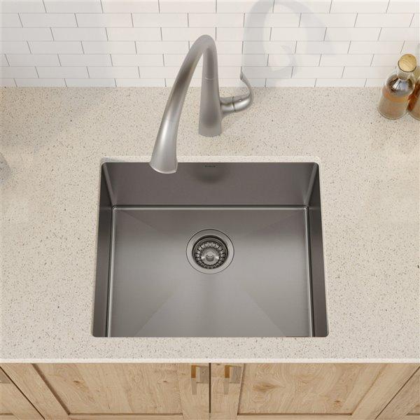 kraus standart pro undermount kitchen sink single bowl 21 in stainless steel