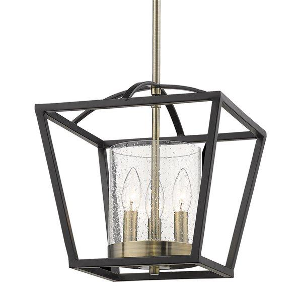 golden lighting mercer mini brass chandelier matte black 11 in