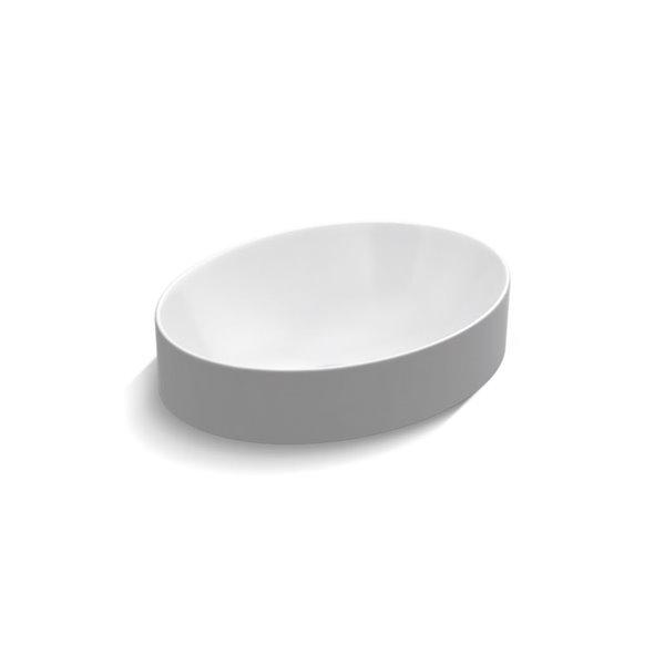 kohler vox oval vessel bathroom sink white