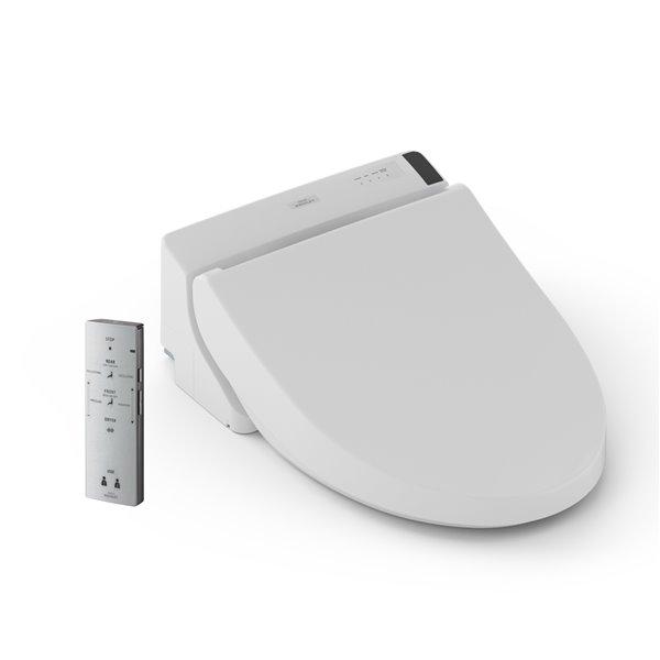 siege de toilette avec bidet electronique washlet c200 de toto coton blanc