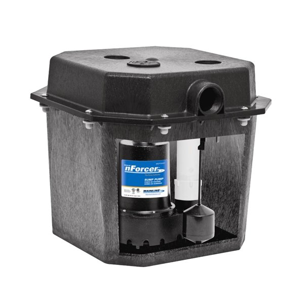 nforcer remote sink and drain pump system 1 3 hp cast iron