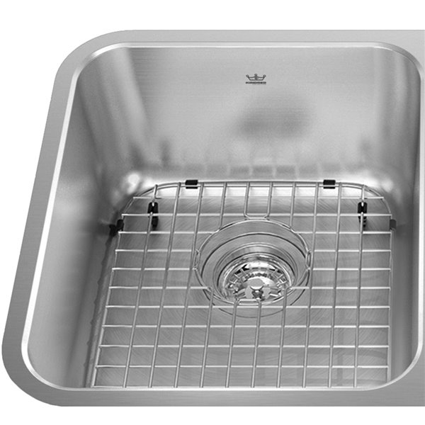 kindred stainless steel bottom grid for kitchen sink 11 88 in x 14 25 in x 1 in