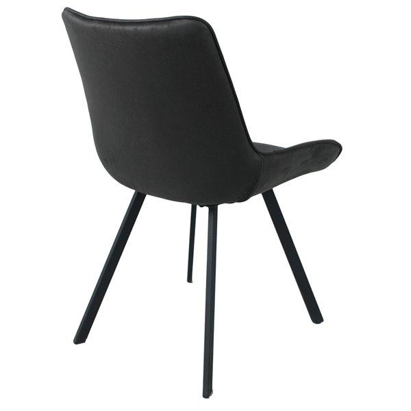 chaises de cuisine ou d appoint zen de corcoran tissu et metal noir ens de 2