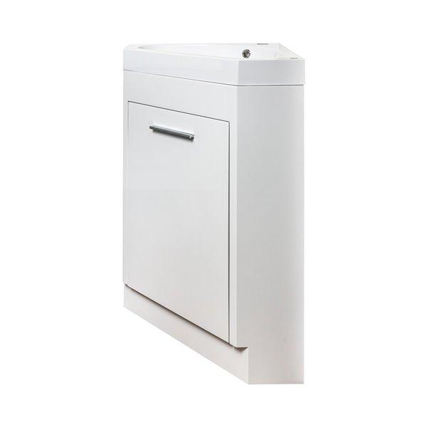 meuble lavabo de coin harlem de gef avec 1 porte comptoir acrylique blanc 18 po