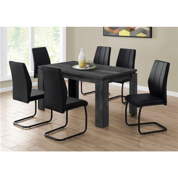table salle a manger monarch faux bois noir 36 po x 60