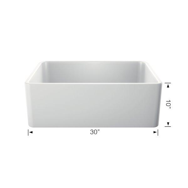 blanco cerena farmhouse kitchen sink single bowl 30 in ceramic fireclay white