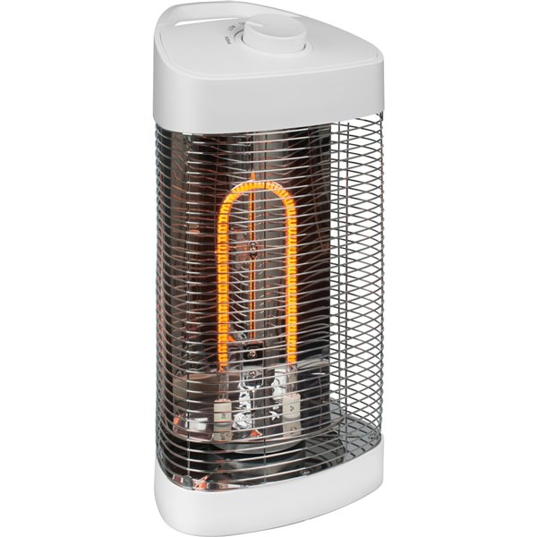 westinghouse infrared oscillating portable electric patio heater 4 100 btu 20 5 in white