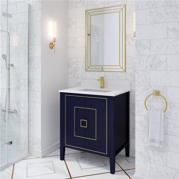 Spa Bathe Meuble Lavabo Simple Hayden De Ikou Pour Salle De Bain Bleu Marine 30 Po Ha30nb Rona