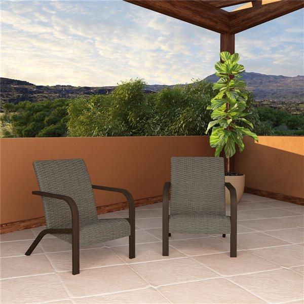 cosco outdoor living smartwick patio lounge chairs gray 2 pk