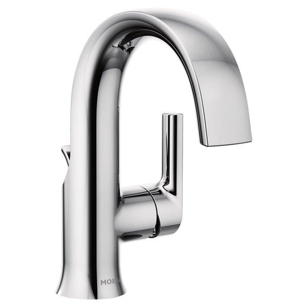 moen doux bathroom sink faucet 1 handle 1 2 gpm chrome