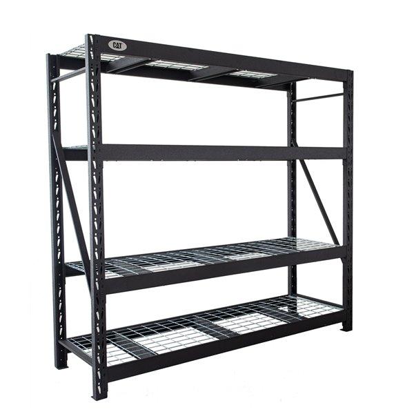 etagere industrielle a 5 tablettes de caterpillar 24 po x 72 po x 72 po acier noir