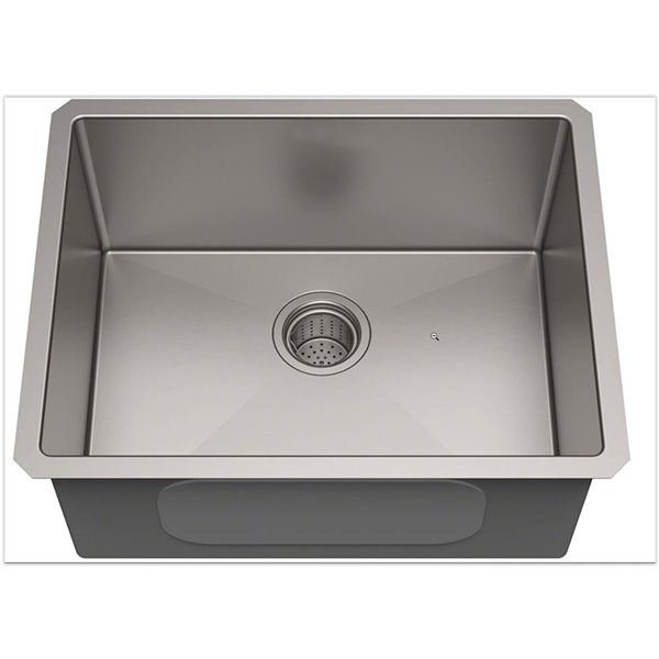 american imaginations 23 in x 20 in 1 basin brushed nickel undermount laundry sink 18 gauge drain included