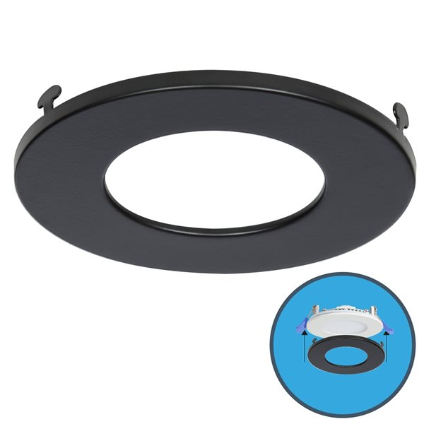 nadair slim clip on colour trim for led panel light black