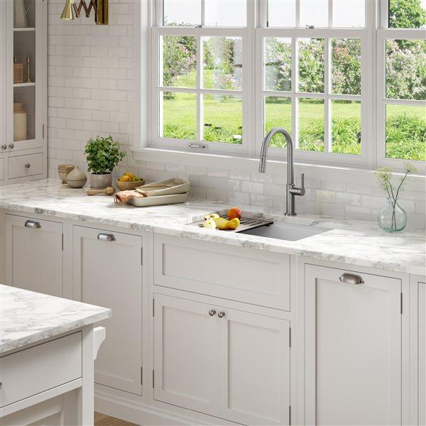 kraus undermount granite sink with accessories 30 in white