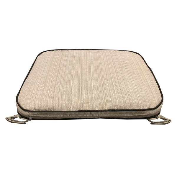 oakland living patio bench cushion with zipper 20 in x 65 in beige