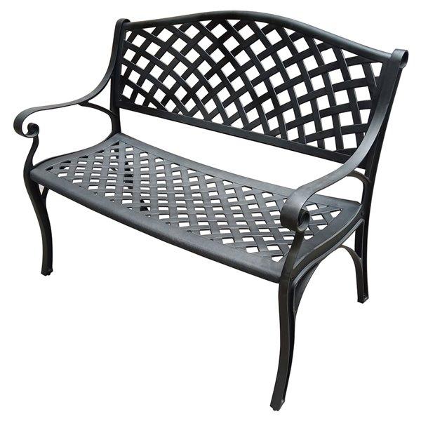 oakland living outdoor modern patio bench black
