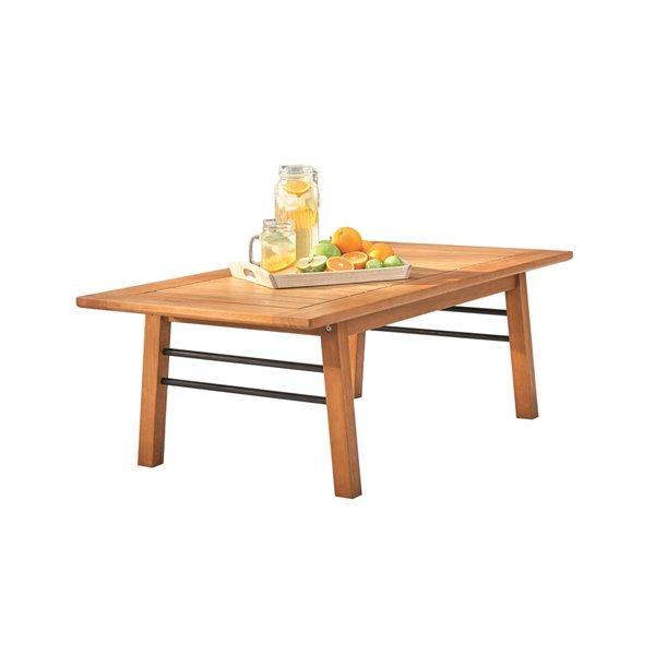 table basse d exterieur gloucester de vifah capacite de 4 rectangle bois brun 48 po x 16 po