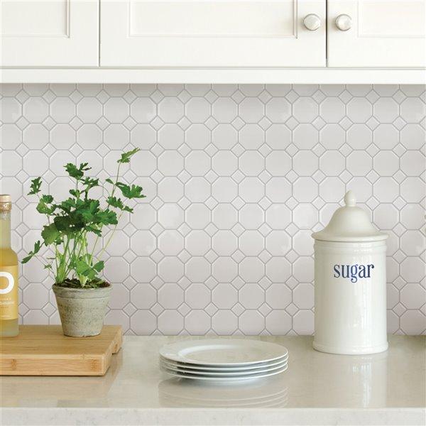 octagon peel stick backsplash tiles