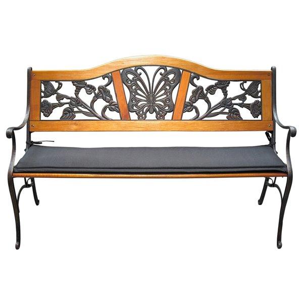 bozanto inc patio bench cushion 48 in x 13 in black