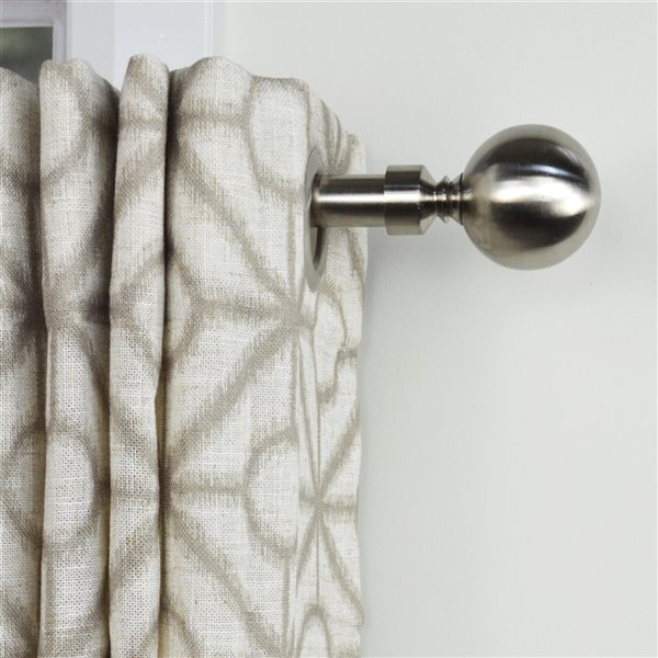 versailles home fashions imperial double ball double curtain rod 72 144 in brushed nickel