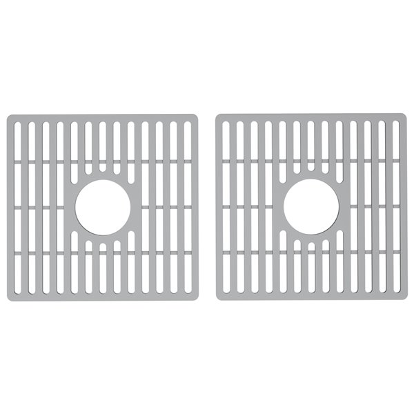 vigo 15 13 in x 14 75 in silicone kitchen sink bottom grid for double basin grey