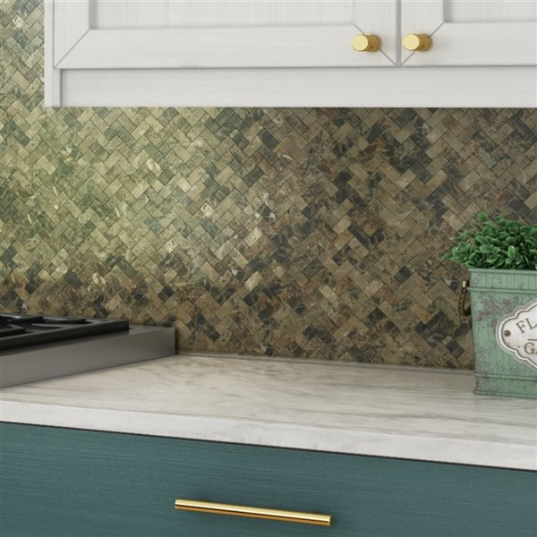 speedtiles 3x faster brown 4 in x 4 in natural stone herringbone wall tile tile sample