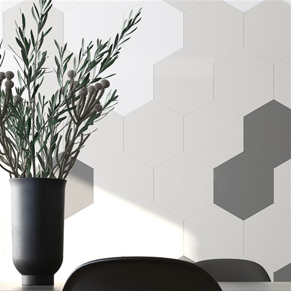 speed peel and stick wall tiles giant 4 in greige aluminum honeycomb peel and stick wall tile sample