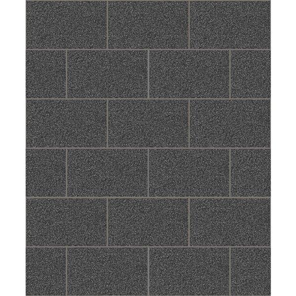 advantage neale 56 4 sq ft black vinyl tile unpasted paste the paper wallpaper