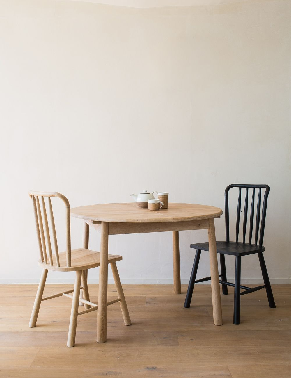 Nordic Round Extending Dining Table Rose Grey