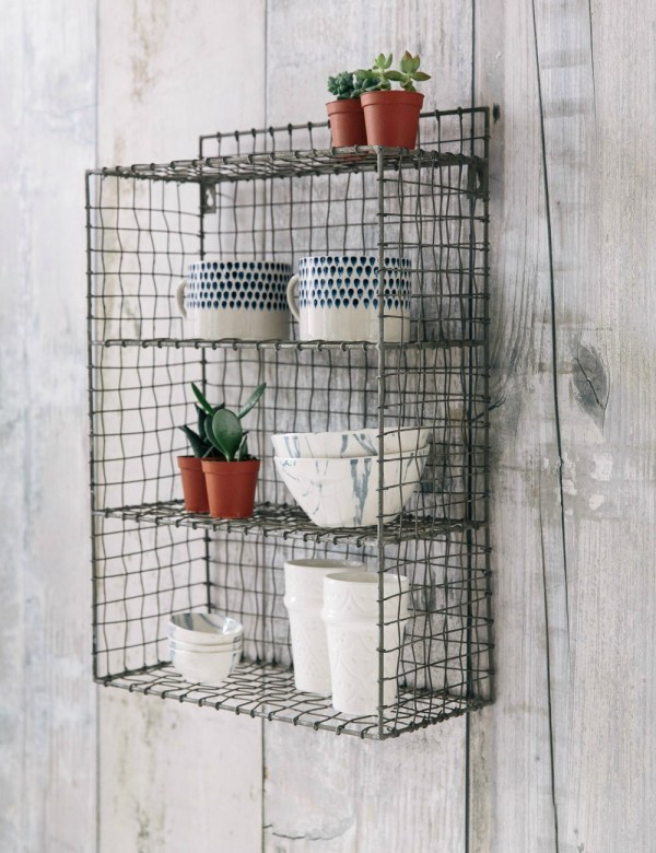 Wire Locker Room Shelf at Rose & Grey